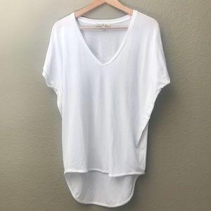 Staple Plain White V Neck Short Sleeve T Shirt